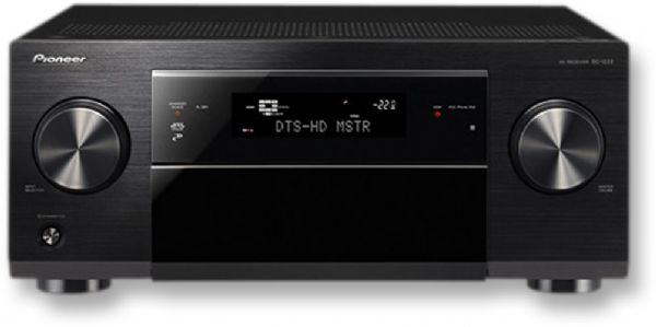 Pioneer SC-1222-K Network Ready Audio/Video Receiver, 7.2 Channels, 600 W Multi ch Simultaneous Drive (1 kHz, THD 1 percent at 8 ohms), Dolby TrueHD/Dolby Pro Logic IIz/Dolby Digital Plus, DTS-HD Master Audio/DTS-ES/DTS Neo:6, Digital Core Engine with Texas Instruments Aureus DSP, Hi-bit24 Audio Signal Processing/192 kHz/24-bit DAC, UPC 884938165907 (SC1222K SC1222-K SC-1222K SC-1222)