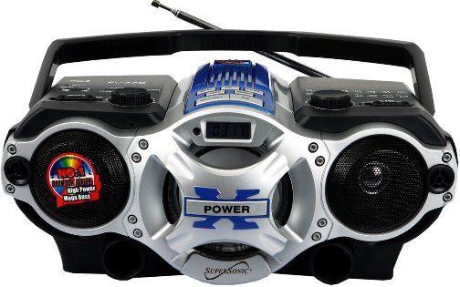 am fm radio blue dynamic high performance speakers sd micro sd card