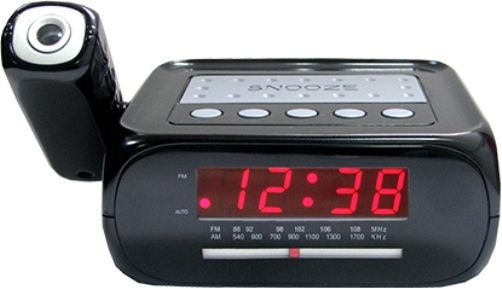 supersonic sc 371 digital projection alarm clock with am fm radio aux i. Black Bedroom Furniture Sets. Home Design Ideas