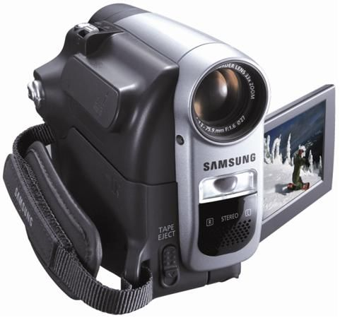 Samsung SC-D363 Mini DV Camcorder, Optical 30x Digital 1200x Zoom Lens, 680K pixel CCD, 2.5
