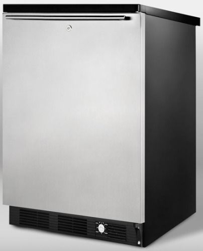 Summit SCFF55LBLIMSSHH Frost Free Freezer For Built In Undercounter Use With