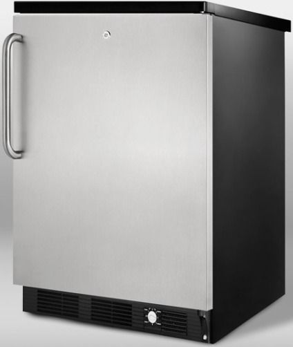 Summit SCFF55LBLIMSSTB Frost Free Built In Undercounter Freezer With Icemaker