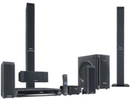 Panasonic SC-PT956 Remanufactured DVD Home Theater System with 1080p Upcoversion, 5 Disc CD-Changer, DVD-Video, DVD-RAM/-RW/-R/-R(DL), +R/+R(DL)/+RW, CD, CD-R/-RW, Video CD, SVCD, MA, MP3, JPEG, DTS Decoder / Dolby Pro Logic II, Playback iPod Music, Whisper-mode Surround, Surround Enhancer, Rear Center Focus, Surround Music, Subwoofer Boost, FM/AM Digital Synthesizer Tuner, Remote Control, 5 DVD/CD Changer (SC PT956 SCPT956  SCPT956-R)