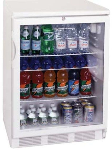 Summit SCR600LBIMEDADA Built In Compact Refrigerator With Adjustable  Shelves, Front Lock, Glass Door, Stainless Steel Cabinet And Commercially  Approved, ...