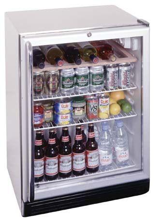 Summit SCR600BL-CSS Undercounter Glass Door Refrigerator, 24 ...