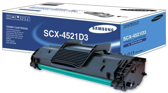 Samsung SCX-4521D3 Print Cartridge for SCX-4521F, SCX-4321, Approximate yield 3,000 pages, Black (SCX4521D3 SCX 4521D3)