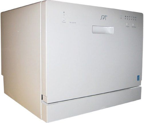 Lightweight Countertop Dishwasher : Sunpentown SD-2201W Countertop Dishwasher, White, 14.5L/3.8 gallons ...