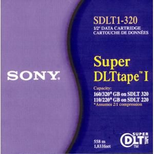 Sony SDLT1-320 Super DLT Media, 160GB Native/320GB Compressed, 500000 Head Passes Durability, Super DLT Tape Technology,  Linear Serpentine Recording Method (SDLT1320 SDLT1 320)