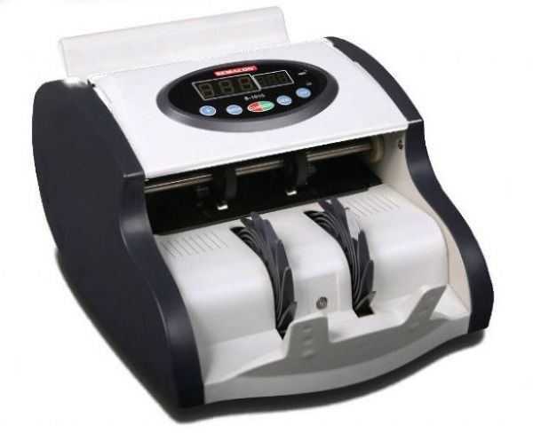 Semacon S-1015-PLM Mini High Speed Currency Counter, Handles Polymer Notes, Black and White; UPC 721405288083 (SEMACON S-1015-PLM MINI SEMACON S1015-PLM-MINI SEMACON-S-1015-PLM MINI SEMACON-S1015-PLMMINI SEMACON/S/1015/PLM/MINI SEMACONS1015PLMMINI)