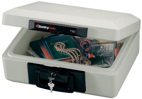 SentrySafe 1160 Fire Chest, 0.2 cu. ft. Capacity, 15.3