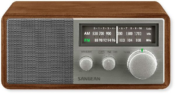 Sangean SG-116 Wooden Cabinet Receiver; FM / AM Analog Radio; Tuning and Band Indicator; Soft and Precise Tuning; Deep Bass Compensation; 3 Inches 6.5 Watts Full Range Speaker with Enlarged Magnet; Auxiliary Input for Additional Audio Sources Like MP3 Player or iPod / iPhone (SG116 SANGEANSG116 SG/116 WALNUT)