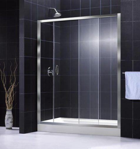 Dreamline SHDR-1060726-01 Infinity Shower Door, Chrome Frame Finish ...