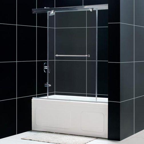 Dreamline shdr 14605810 01 torero frameless sliding tub for 3 panel tub shower doors