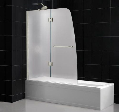 48 Inch Tub Shower. Dreamline SHDR 3148586 01 FR1 Aqua Tub Shower Door Frosted Glass  Chrome Frame Finish 58 Inch Height Tempered 1 4 glass with frosted