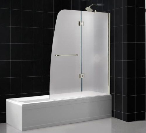 Attractive Dreamline SHDR 3148586 01 FR2 Aqua Tub Shower Door Frosted Glass, Chrome  Frame Finish, 58 Inch Height, ...