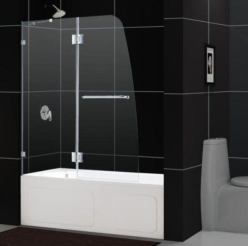 Dreamline Shdr 3348588 04 Aqua Lux Clear Glass Tub Door