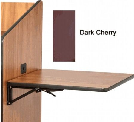 AVF Audio Visual Furniture International SH FL DC Optional Flip Up Shelf,  Dark Cherry, Folding Side Shelf Kit To Add To Lecterns Or Podiums,  Pre Configured ...