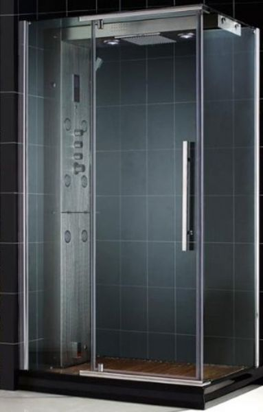 dreamline majestic steam shower enclosure with rightwall 516 8mm tempered clear glass with exclusive clear glass