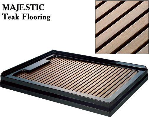 dreamline shjcfl4001 optional teak wood flooring panel fits with majestic jetted and steem shower enclosure base