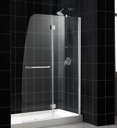 Dreamline Shtrdr 30601 31 01 Aqua Shower Door Tray Combo Chrome Frame Finish Tempered 1 4 Clear Glass Integrated Handle Towel Bar Anodized Aluminum