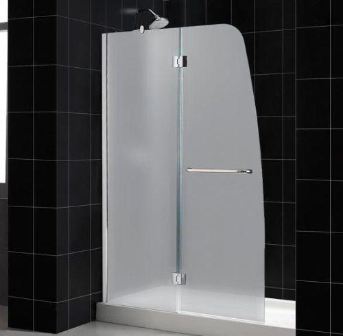Dreamline Shtrdr 30601 31 04 Fr1 Aqua Shower Door Tray Combo Brushed Nickel Frame Finish Tempered 1 4 Frosted Glass Integrated Handle Towel Bar