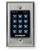 SECO-LARM SK-2323-SDQ Mullion-Style Weatherproof Digital Access Keypad; 12~24 VAC//VDC operation; 1010 Users each rated 1 Amp @ 30VDC ; 2 Form C relays Output #1: 1,000 users//Output #2: 10 users