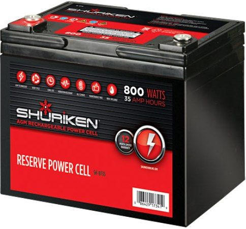 Shuriken Sk Bt35 Car Battery Cell 800 Watts 35 Amp Hours 12 Volt Compact Size Absorbed Gl Mat Technology Can Be Mounted In Any Position