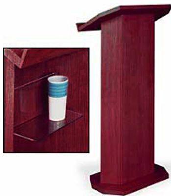 amplivox sn3165 cv red mahogany lectern contemporary solid wood