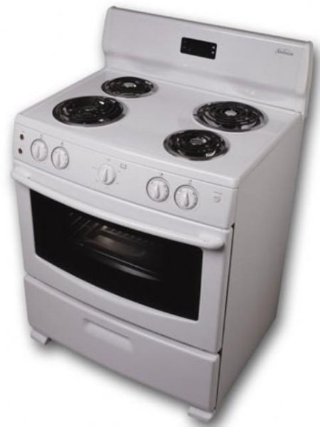 electric cooking stoves double sunbeam sns3emlcaq freestanding electric range 40 cu ft capacity 30 capacity