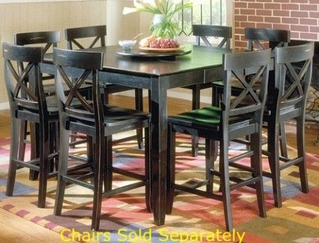 Exceptionnel Mira Home Furnishings SONOMA COUNTER HEIGHT TABLE Sonoma Counter Height  Table, Black, Solid Hardwood Construction, Includes Lazy Susan, Hand Rubbed  Finish, ...