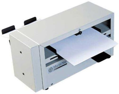 Martin Yale SP100 Intimus Score and Perf Machine, Creates tent style business cards, occasion cards, and/or tickets, Score or perforate sheets from 24 lb. bond to 100 lb. cover stock, Fully adjustable paper guides to accomodate 3 1/2