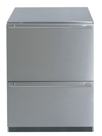 Stainless steel fridge under counter