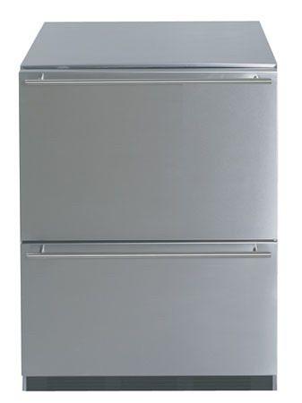 Stainless steel fridge under counter
