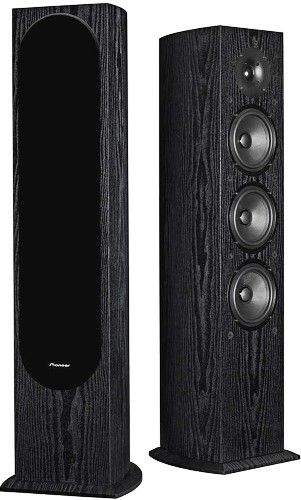 Pioneer SP-FS52 Andrew Jones Designed Floor Standing Loudspeaker, 130 Watt Power Handling, Frequency Range 40 Hz-20 kHz, Nominal Impedance 6 Ohms, Sensitivity (2.83 V) 87 dB, Cross-Over Frequency 250 Hz & 3 kHz, RF Molded Curved Cabinet, Three 5-1/4� Structured Surface Woofers, 1� High Efficiency Soft Dome Tweeter, UPC 012562906102 (SPFS52 SP FS52 SPF-S52 SPFS-52)