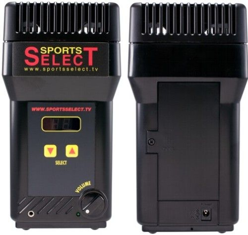 Sports Select SPL-SSRS2 Table Top 900MHz Receiver with Headphone Jack, Table-Top Listening Stations are portable and compact, Built-in speaker, volume control and program selector, Superb localized sound quality, Up to 16 channels, Easy installation from satellite, cable box or television audio outputs, Up to 16 audio channels, 300 feet transmission range (SPLSSRS2 SPL SSRS2)
