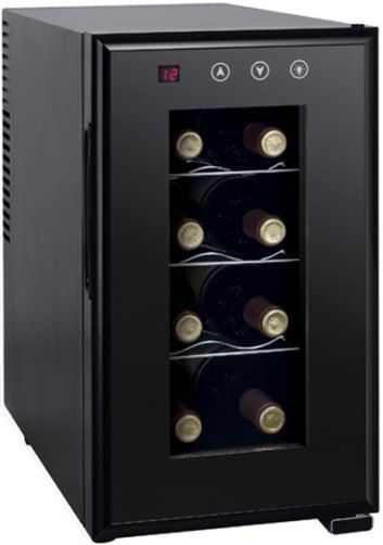 Sunpentown WC-0888H Thermo-electric Slim Wine Cooler with Heating (8-bottles), Black, ThermoElectric cooling system, 8 standard bottles/23L capacity, Digital controls with LED temperature display, Environment friendly (refrigerant free), Quiet operation, No vibration (bottle sediment is not disturbed), 3 slide-out shelves, Noise level 30.8 dB, UPC 876840005631 (WC0888H WC 0888H WC-0888)