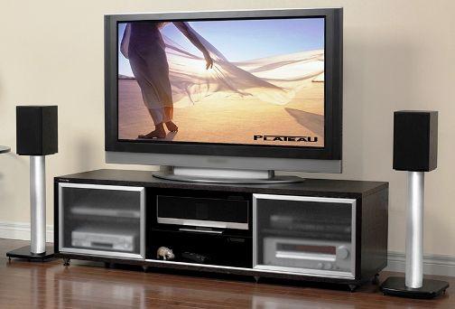 Superbe Plateau 758010000565 Model SR V65 E Enclosed Cabinet Audio/Video Stand SR  Series, Espresso Wood Finish, ...