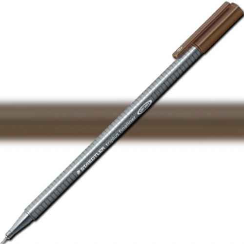 Staedtler 334-77 Triplus, Fineliner Pen, 0.3 mm Warm Sepia; Slim and lightweight with a 0.3mm superfine, metal-clad tip; Ergonomic, triangular-shaped barrel for fatigue-free writing; Dry-safe feature allows for several days of cap-off time without ink drying out; Acid-free; Dimensions 6.3