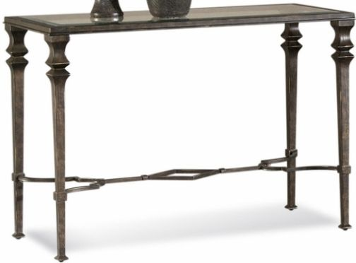 Bassett Mirror T1210 400EC Lido Console Table, Traditional Style, Burnished  Bronze Finish On Metal, Wrought Iron Frame, Glass Top, Rectangular Shape,  ...