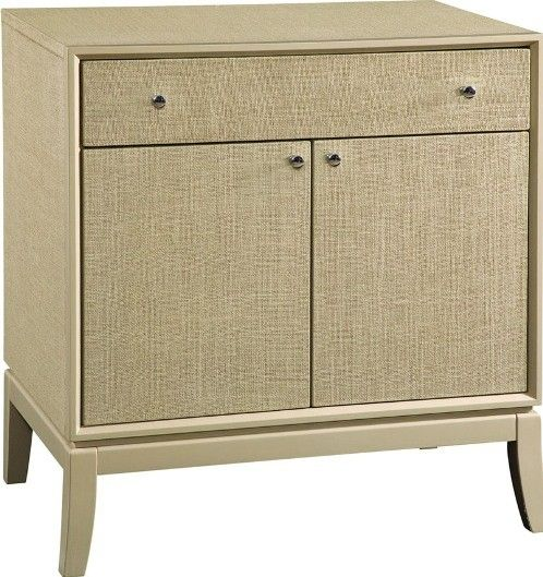 Bassett Mirror T2625225 Latitude Commode in Taupe, Woven