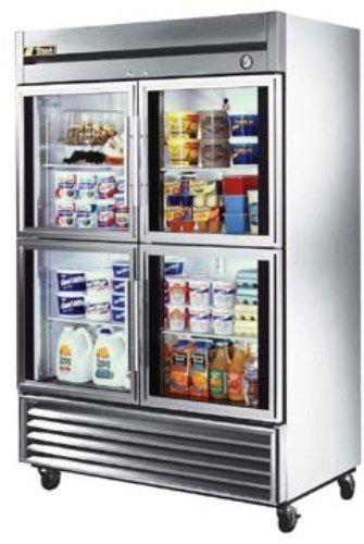 True T 49g 4 Half Door Refrigerator Four Glass Doors 49 Cu Ft