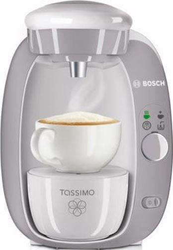 Bosch TAS2004UC8 Tassimo T20 Single Serve Coffee Maker, Grey, Fully automatic one button ...