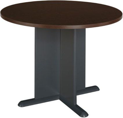 Bush tb12942a corsa mocha cherry round conference table for 12 person conference table