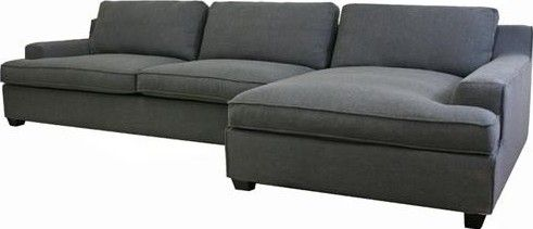 Wholesale Interiors TD0905-AD066-3 Kaspar Slate Gray Fabric Modern Sectional Sofa 3piece+chaise Slate gray twill upholstery Wood frame High-density ...  sc 1 st  SaleStores.com : gray sofa with chaise - Sectionals, Sofas & Couches