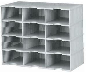 TD3H12 Tier Drop HighWall Forms Organizer 12 Slot 3 wide TD3