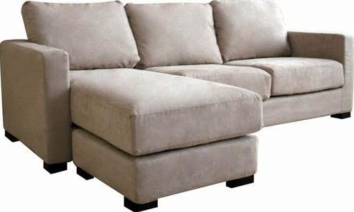 Wholesale Interiors TD7813B KF 06 Tan Microfiber Sectional Sofa And  Ottoman, Medium Firm Foam Padding On Seat And Back Cushions For Comfort, ...