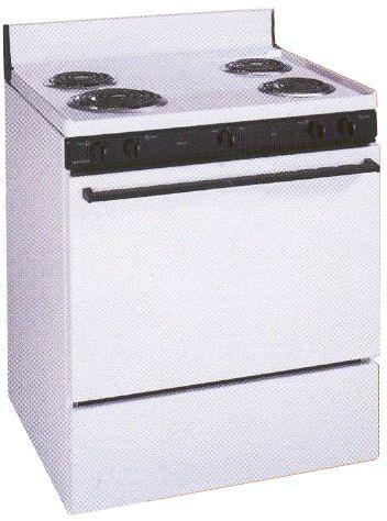 tappan tef303bw electric manual cleaning range white 30 chrome rh salestores com Tappan Self-Cleaning Electric Oven Tappan Self-Cleaning Electric Oven