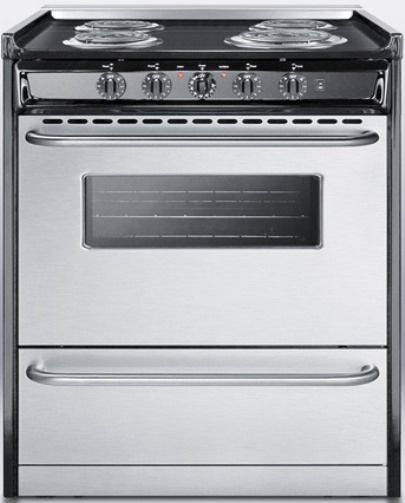 Summit tem210brwy slide in electric range in slim 30 for What is the bottom drawer of an oven for