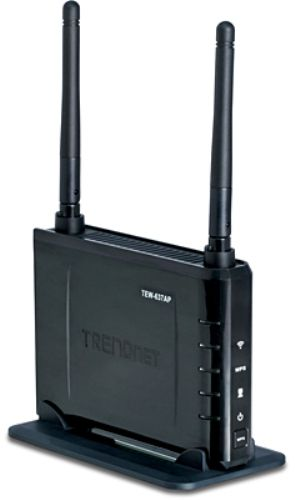 TRENDnet TEW-637AP Wireless Easy-N-Upgrader 300Mbps, A smaller and faster access point solution suitable for upgrading to wireless N, Affordable wireless N device for easily migrating from wireless G and B networks, Wireless security support for WEP, WPA & WPA2 (TEW637AP TEW 637AP TEW-637A TEW-637)