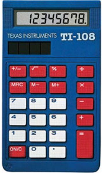 Texas Instrument Ti 108tk Basic Solar Calculator Teacher S